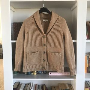 MADEWELL shawl collar wool cardigan